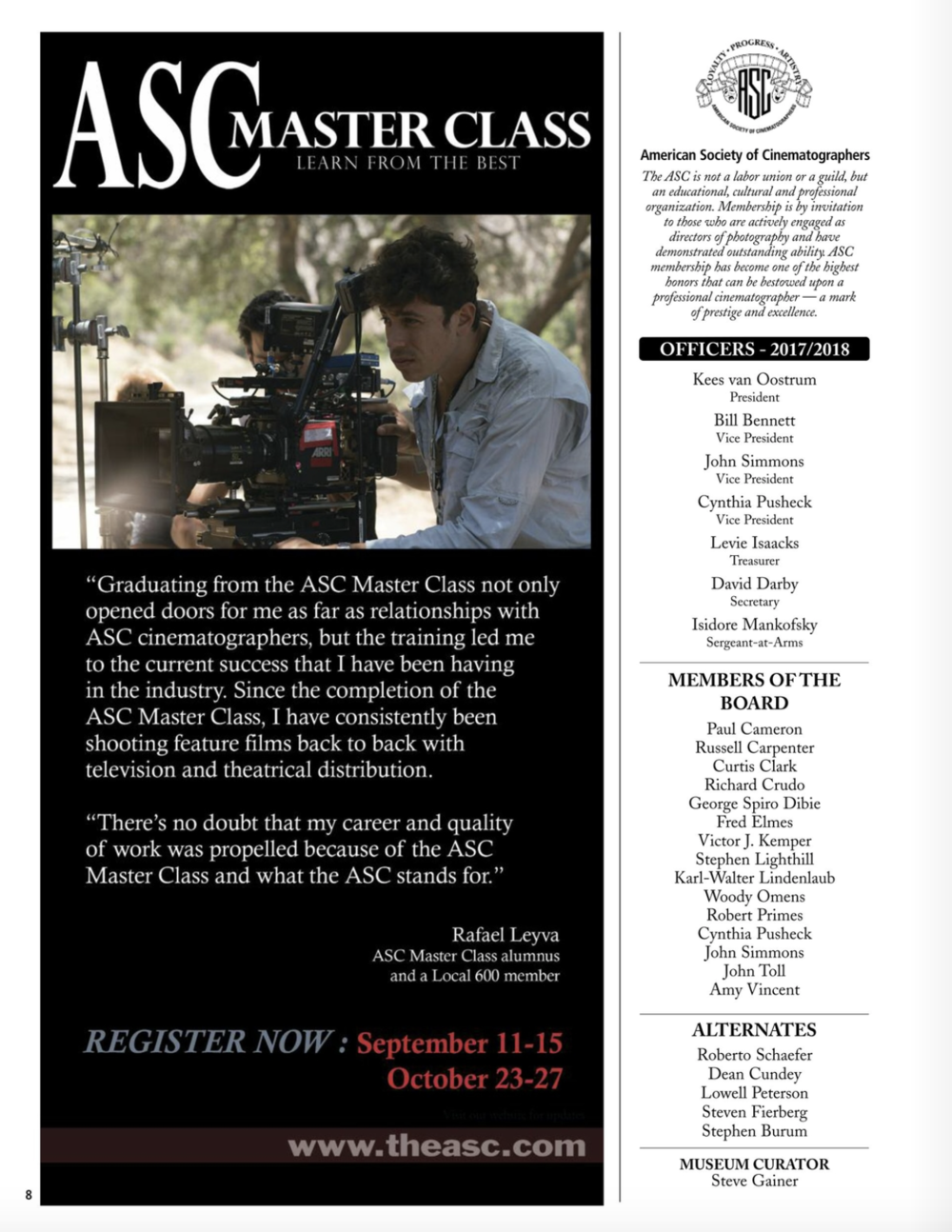 ASC MAGAZINE - SEPTEMBER ISSUE 2017