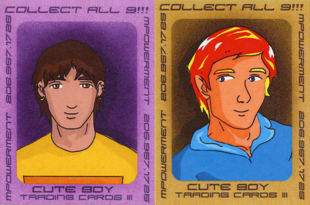 Cute Boy Trading Cards - Facilitate the development of a youth-driven prevention campaign