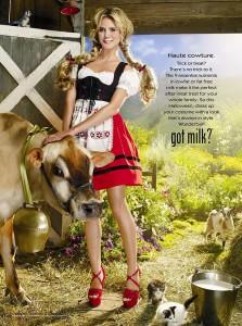 Heidi Klum Likes Milk