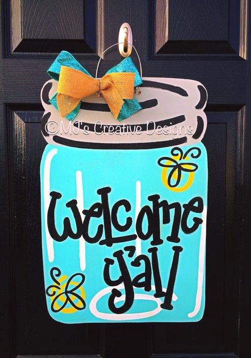 Mason Jar Door Hanger — MJ\'s Creative Designs Studio
