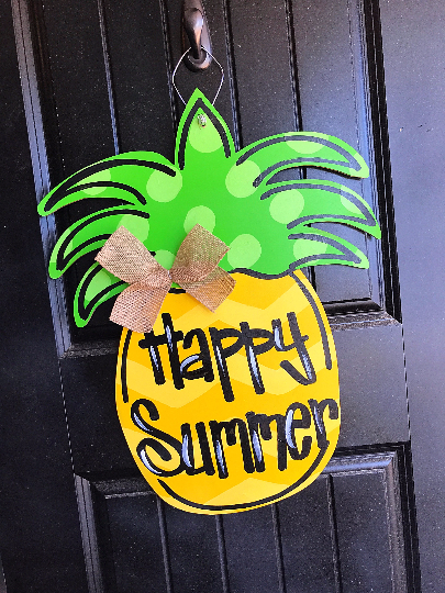 Ready Made  Pineapple Door Hanger