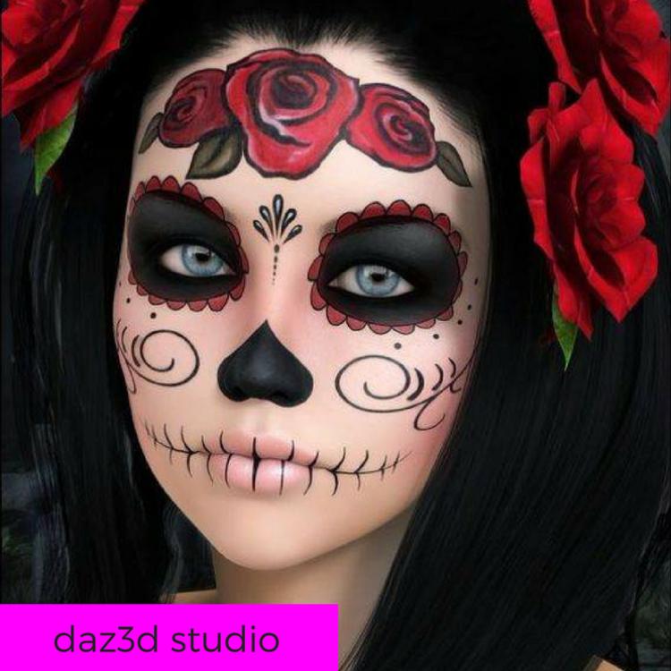Halloween Makeup Look Sugar Skull Katie Enos Beauty - Halloween-makeup
