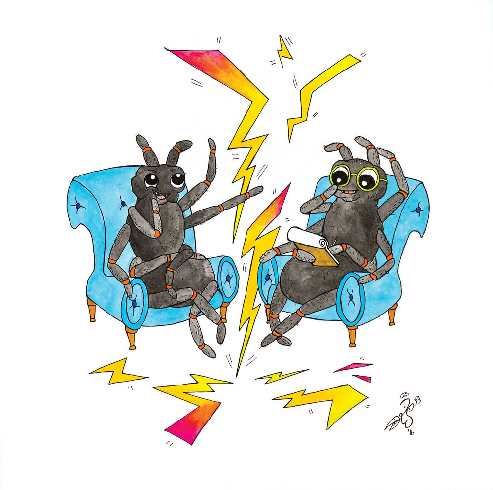 T is for Therapeutic tarantulas theorize tribal thunder tension