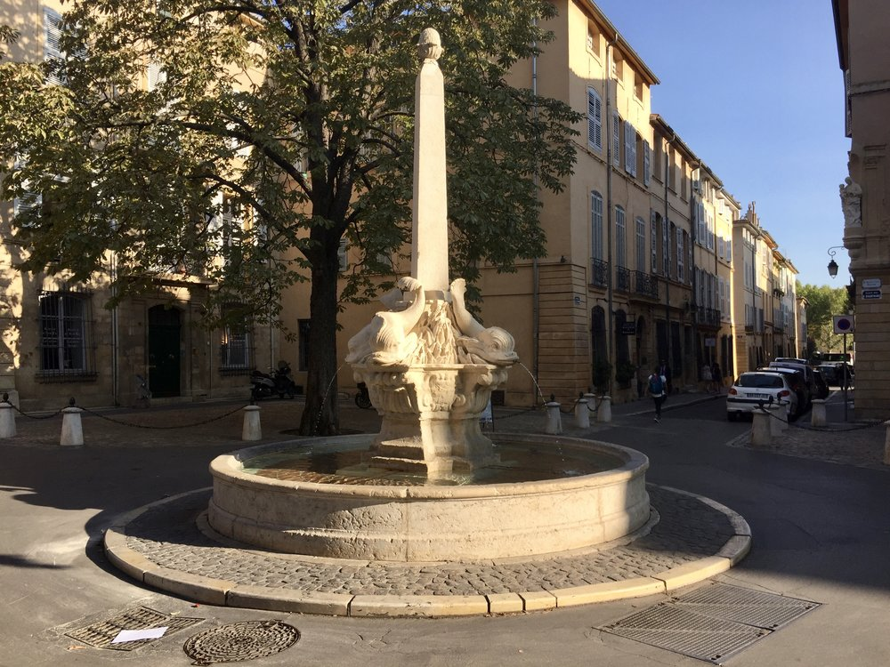 Lemley4_Fountain on quiet street in Aix-en-Provence.jpeg
