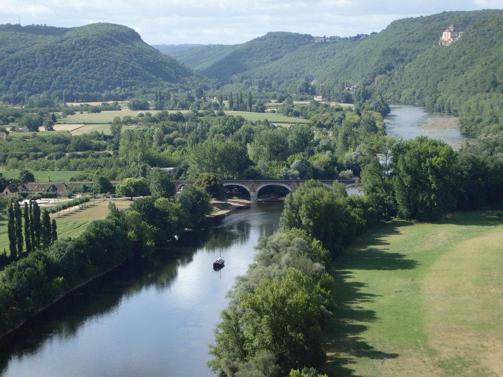 Dordogne River from the Château de Beynac
