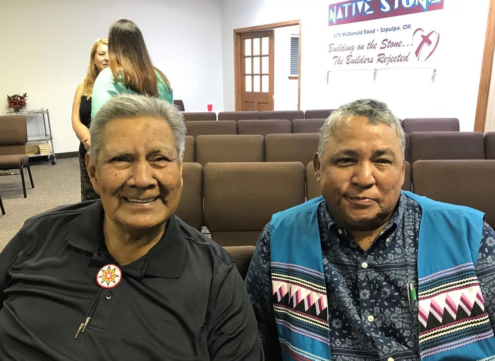 Brother Richard Pickup and Gary Hawkins