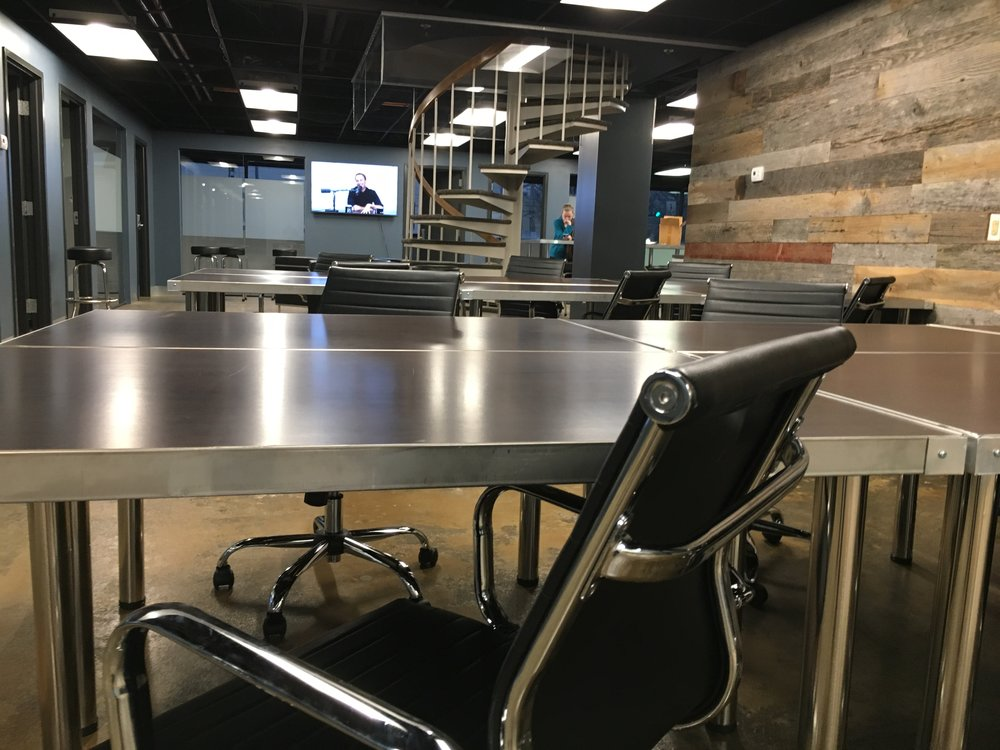 Co-Working Space - $40/dayIn town for a short visit? Come grab a desk and enjoy the free wifi, coffee, and access to our other amenities.$150Need a place to work throughout the month? Choose the BaseSpace option and gain unlimited access to Base110 co-working space.