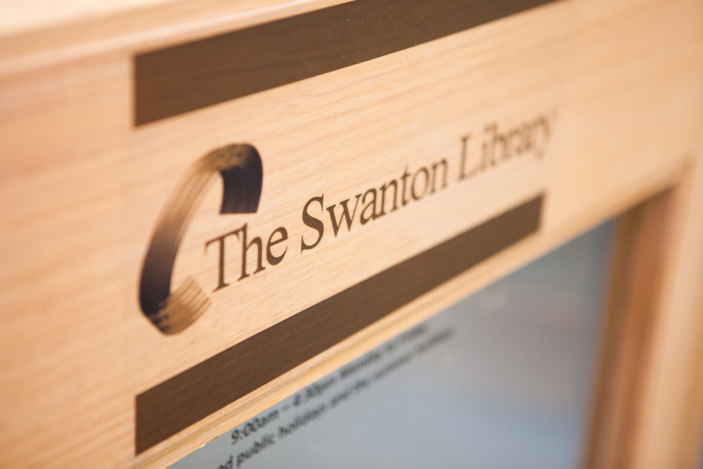 swanton library sign