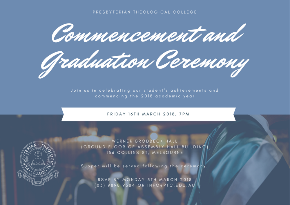 2018 graduation ceremony invitation