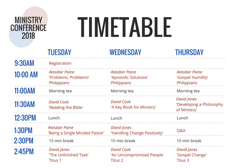 ministry conference 2018 timetable