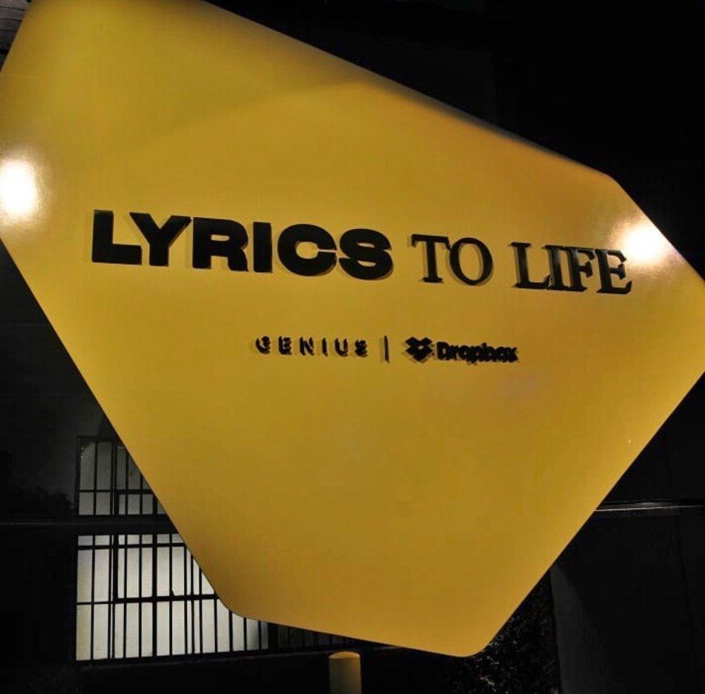 LYRICSTOLIFE - The Pop-Up exhibition inspired by songs lyrics ...