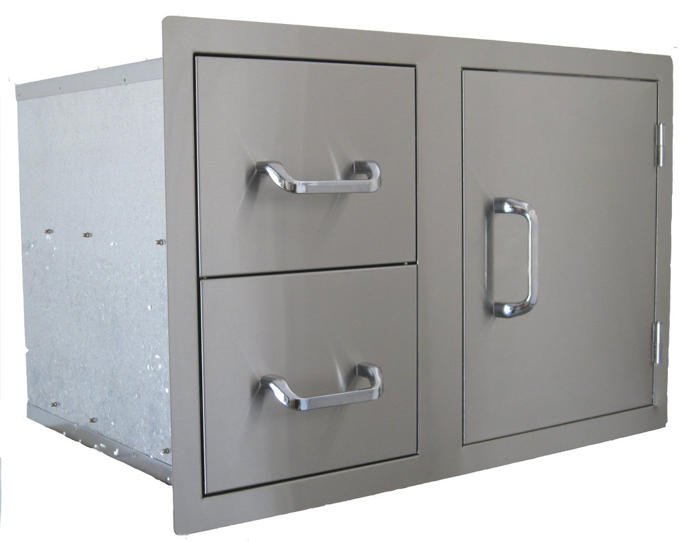 STAINLESS STEEL STORAGE 2 DRAWERS $649 -BS24230