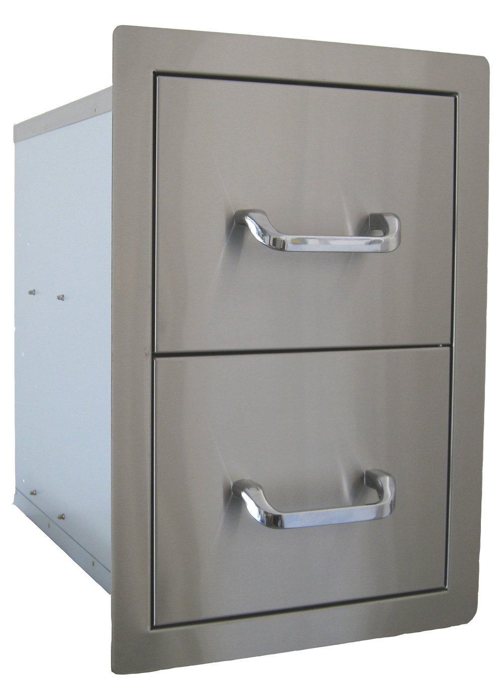 STAINLESS STEEL DOUBLE DRAWER $349 -BDBS24200