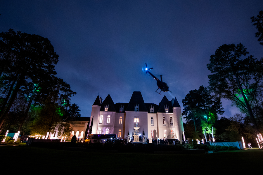 Yes, that is the bride & groom departing in a helicopter.  #goals