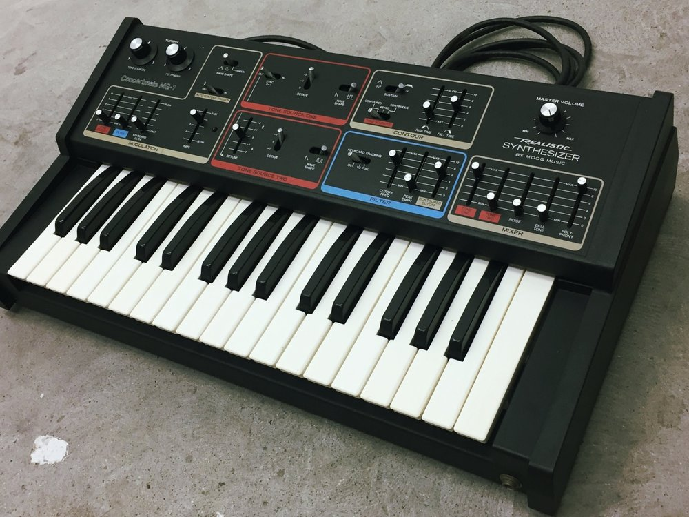 Realistic MG1 Moog Music Vintage Synth Nightlife Electronics
