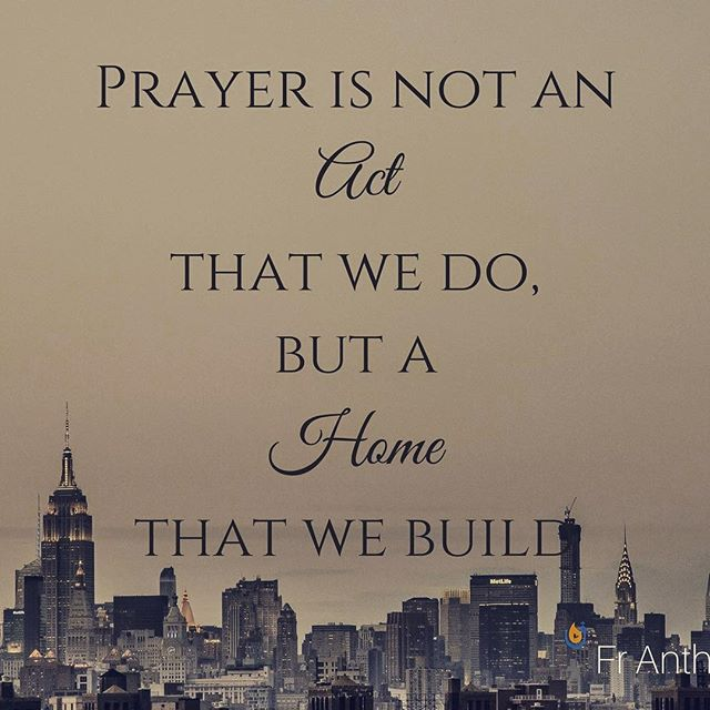 """""""Prayer in not an act that we do, but it is a home that we build"""" - Fr Anthony Messeh Tune into the series """"A Life Of Prayer"""" and learn to invite Christ into your home! Available on the app now: http://subspla.sh/hd536yf"""