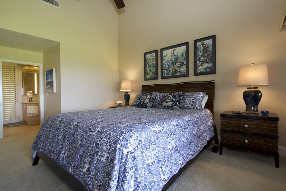 King bed in the master suite