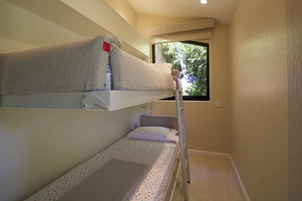 Full sized twin murphy bunks