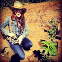 Planting my little coffee tree in Costa Rica