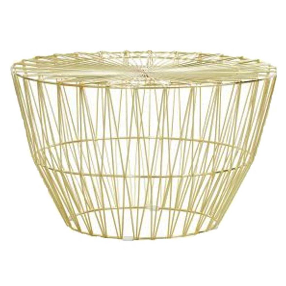 Gold wire coffee table epic empire