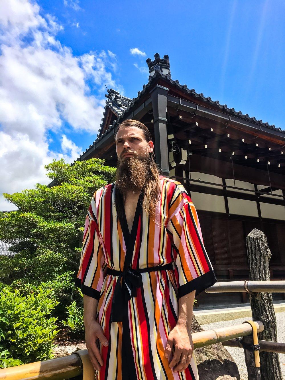 Brett at Kinkaku-Ji Temple on the DESTINY music video shoot