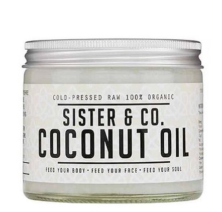Sister & Co. Cold Pressed Organic Coconut Oil   contains exactly what it says on the bottle. Cold pressed, raw coconut oil, harvest on a small, family run farm in Sri-Lanka.
