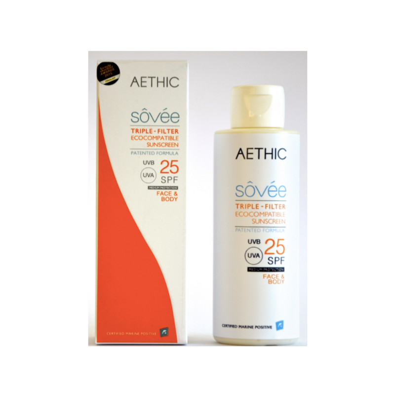 Aethic Sôvée comes in three factors. 15SPF , 25SPF  and 40SPF