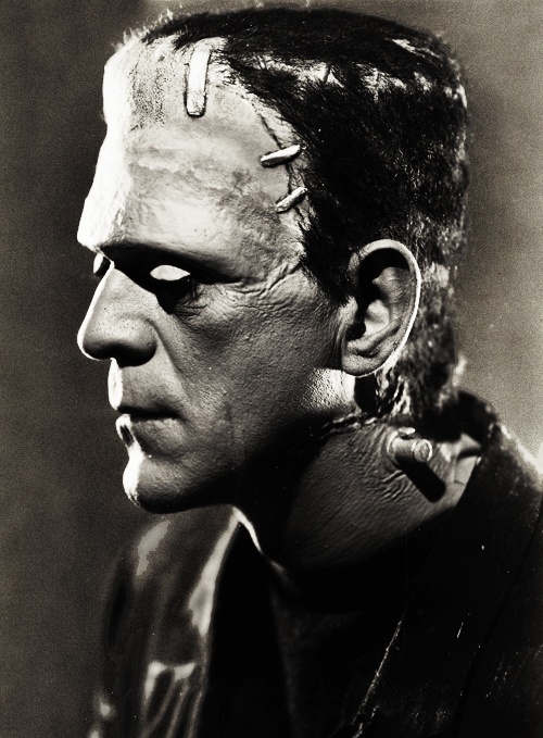 Boris Karloff as Frankenstein in Bride of Frankenstein, 1935.