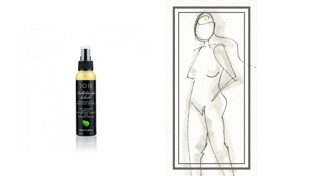 Joik Anti-Cellulite Body Oil | Illustration markers and fine liner on water colour paper by Khandiz Joni
