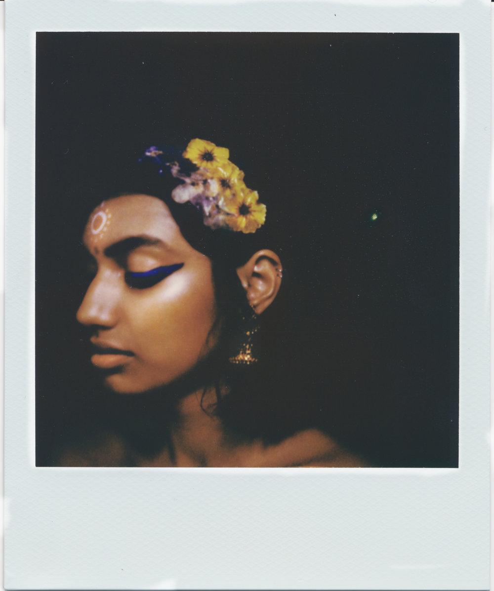Image:Gabrielle Menezes   Makeup Artist:Khandiz Joni   Model:Ameera Mian wearing Zao Liquid Eyeliner in Elecrtic Blue for the editorial  Blue, Holi, You
