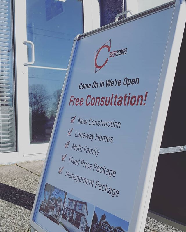 Open 7 days a week! Come visit us at 2657 Kingsway, Vancouver or call us with all your building/renovation questions at 1-833-604-HOME (4663) . . . . . #builders #bc #vancouverbc #construction #newconstruction  #vancouverhomes #bchomes #property #vancouverrealestate #vancouverinvestment #cbest #cbesthomes #builttosuite #customhome #bccustomhomes #vancouvercustomhomes