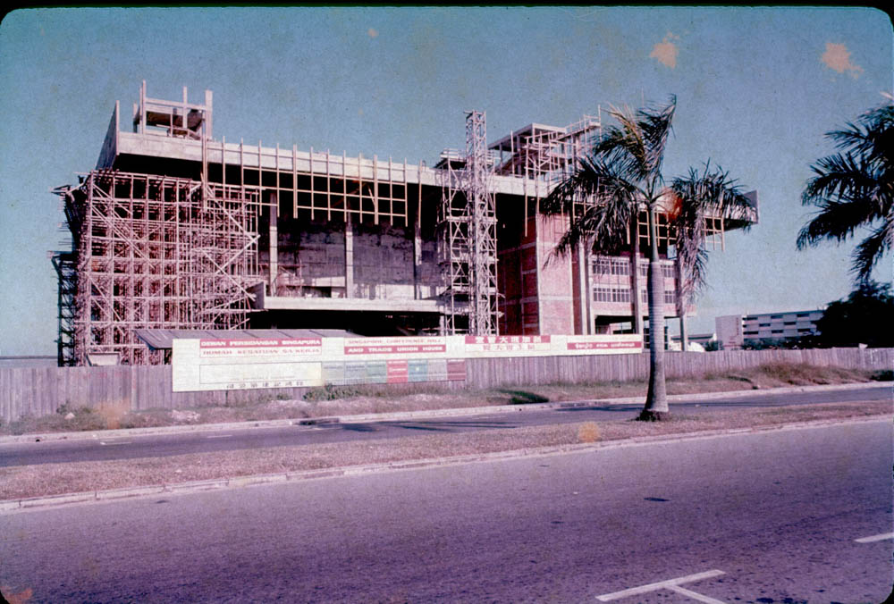 Singapore Conference Hall and Trade Union House under construction (Image  ©  Lim Chong Keat) courtesy of Jiat Hwee Chang