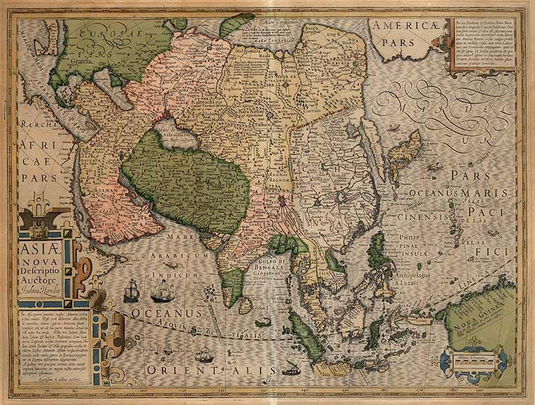 Map of Asia 1607 (Image  © Jodocus Hondius)