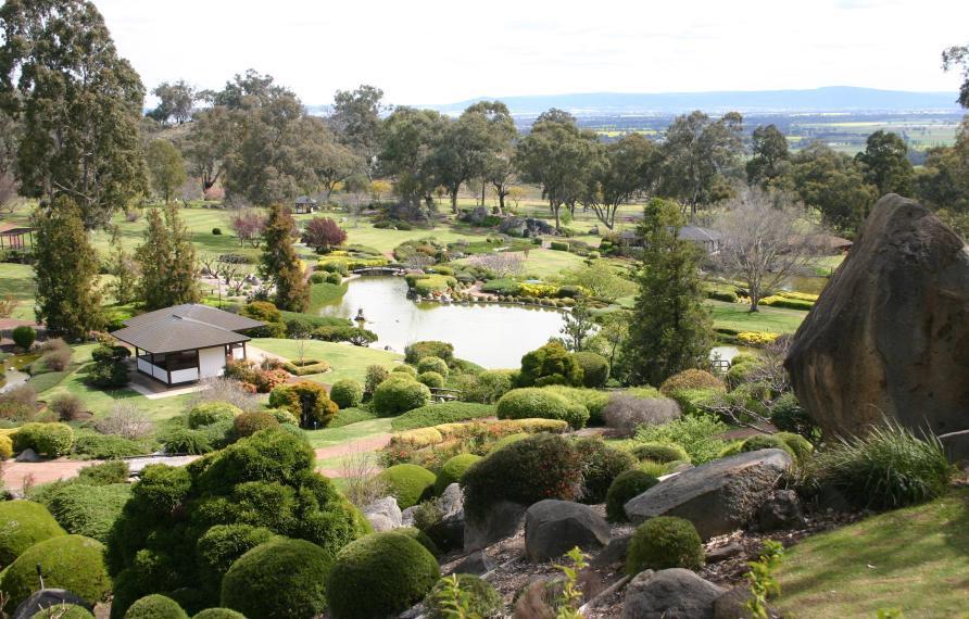 The Cowra Japanese Garden. Designed by Japanese landscape designer Ken Nakajima. (Image  © Anoma Pieris)