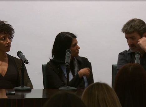 Left to Right: Claire Tancons, Anoma Pieris and Branislav Jakovljević at the Summer 2018 Contemporary and Modern Art Perspectives (C-MAP) Seminar. (Image © post at MoMa)