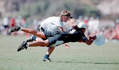 Left IOC world games 2001 Japan (USA won silver). Above is Dom laying out for the disc.