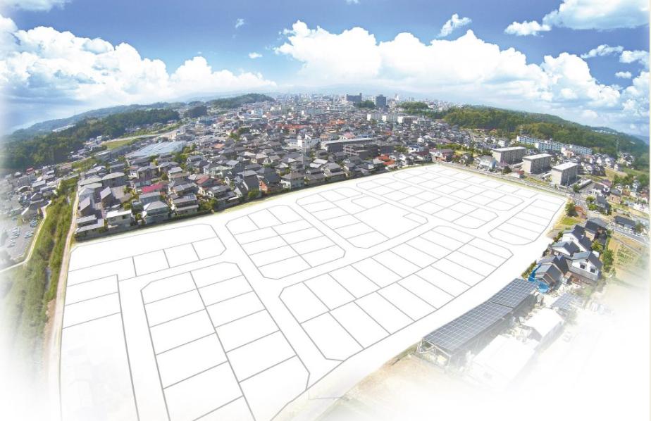 西持田住宅団地造成事業調査設計開発申請業務('15 民間事業者) - 事業規模約2.9haにおいて専用住宅地約100戸を建設するため、松江市で初めての都市計画提案制度活用により、市街化区域編入・農振除外・都市計画法等の手続きにより建設した。