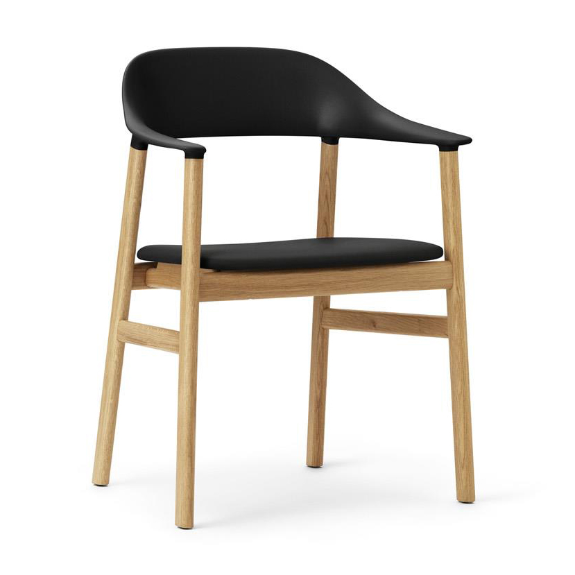 Normann Copenhagen  Herit Armchair Oak + Black Leather