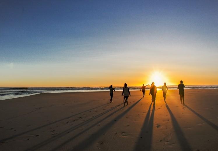 Retreat beach sunset