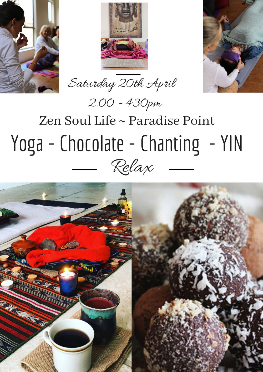 Yoga Chocolate Chanting YIN - Mini Retreat