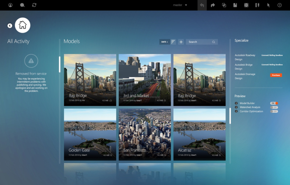 Main dashboard redesigned