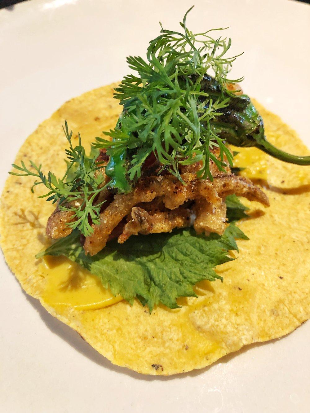 Softshell crab taco