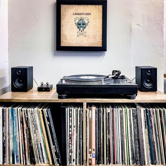 Vinyl at work!!! Finally! #vinyl #vinylcollection #dangerdoom