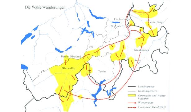 Grafik: Schaubild Walser Wanderung