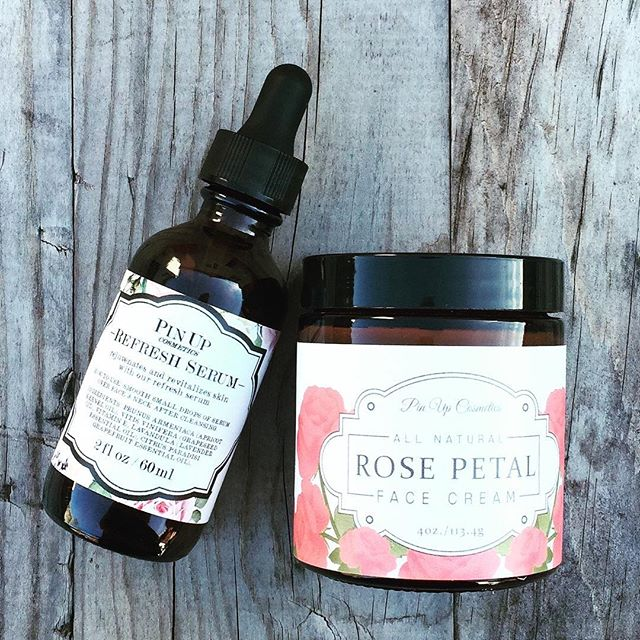 We make a great pair! #pinupcosmeticssf #naturalskincare #moisturizer #serum #ecobeauty #handcrafted #smallbatchbeauty #handmade #bayarea #sanfrancisco