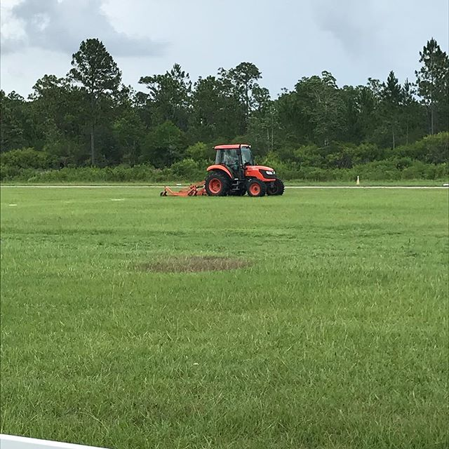 When you have a grass and a concrete runway, you have to manage them both. One more than the other. Luckily we have Rex! Next time you see him, say hi!