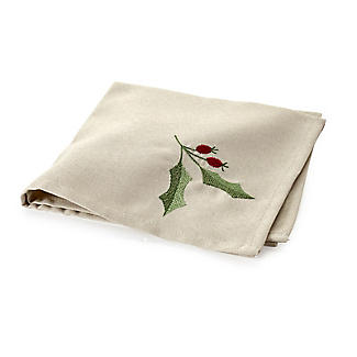 Lakeland - If you've got more of a flexible budget for your hamper then these reusable cloth napkins from Lakeland are gorgeous for a date night and christmases to come. Festive linen - look holly napkins (pack of 4) £16.99