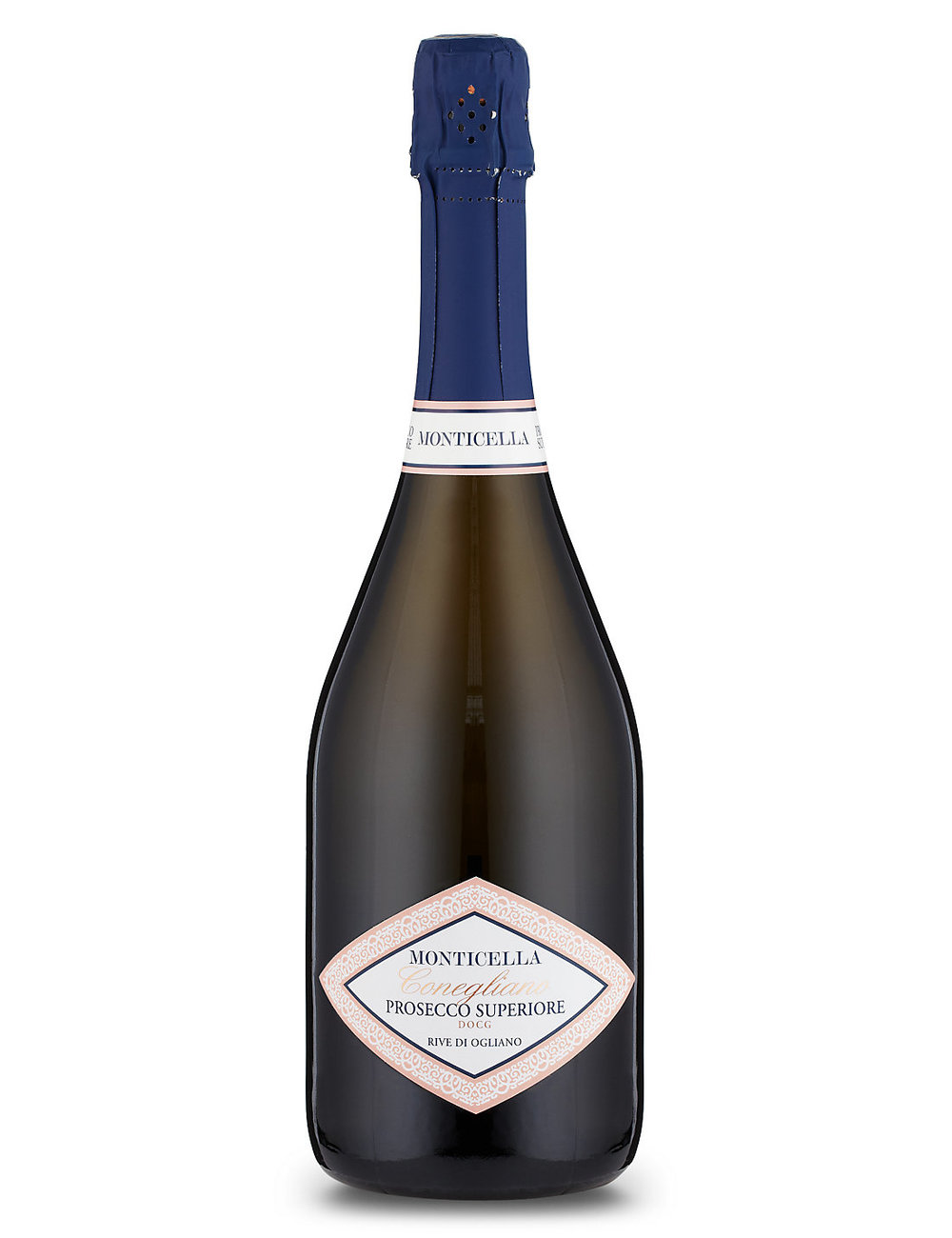 M&S Simply Food - At the higher end of the high street scale we have this Monticella Prosecco Superiore DOCG from M&S at £16.00 a bottle.