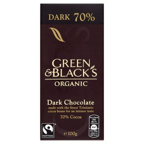 Green & Blacks - Just because you are on a budget doesn't have to mean bad chocolate. This luxurious Green & Blacks organic 70% dark chocolate bar is only £2.00 at Waitrose.