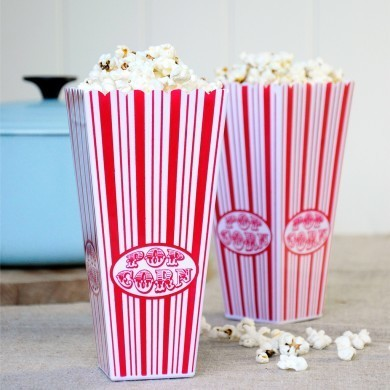 dotcomgiftshop - Plastic popcorn holders for date nights and movie nights throughout the year - very cute! £1.95 from dotcomgiftshop.